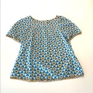 Tory Burch short sleeve shirt size 6